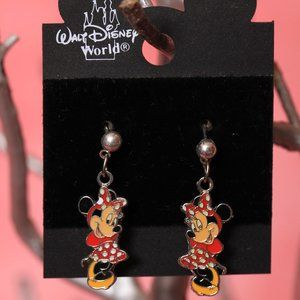 Minnie Mouse w/a Polka Dot Dress and Bow Earrings